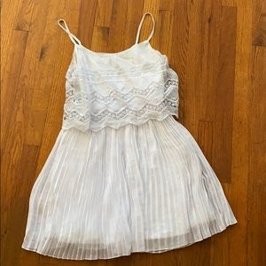 Pleated white dress